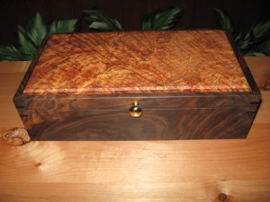 Maple Burl and Walnut Jewelry Box