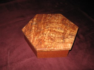 Maple Burl and Lacewood Keepsake Box
