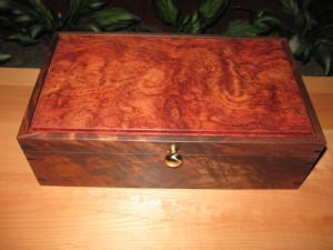 Walnut and Bubinga Jewelry Box