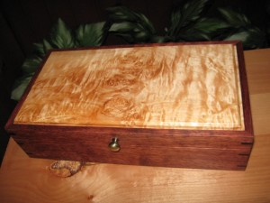 Bubinga and Figured Maple Keepsake Box
